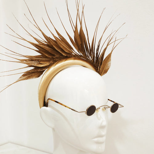 Fascinator Feather Metalic