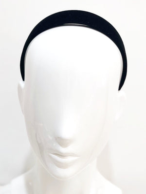 Black Satin Alice Band Online Hair Accessories  - Parismodeshop