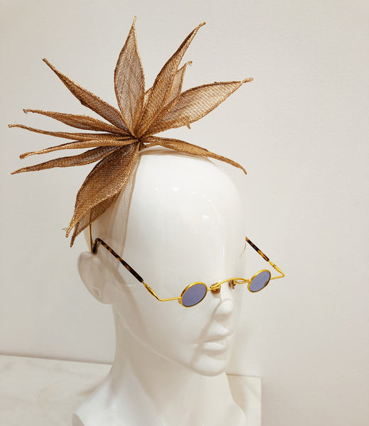 Fascinator Flower Lotus Metalic