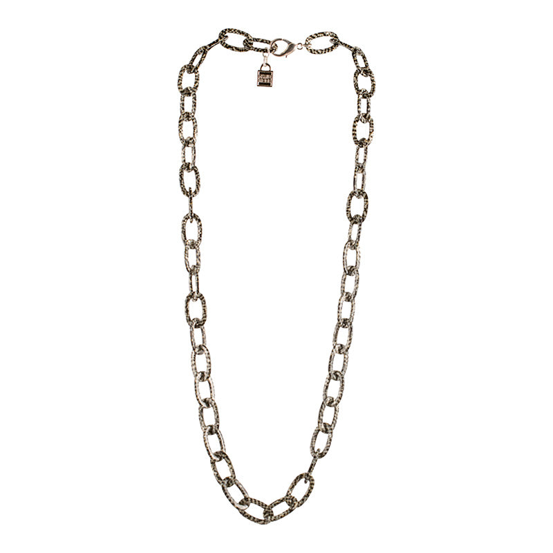 Necklace Chain Long Damier - Parismodeshop