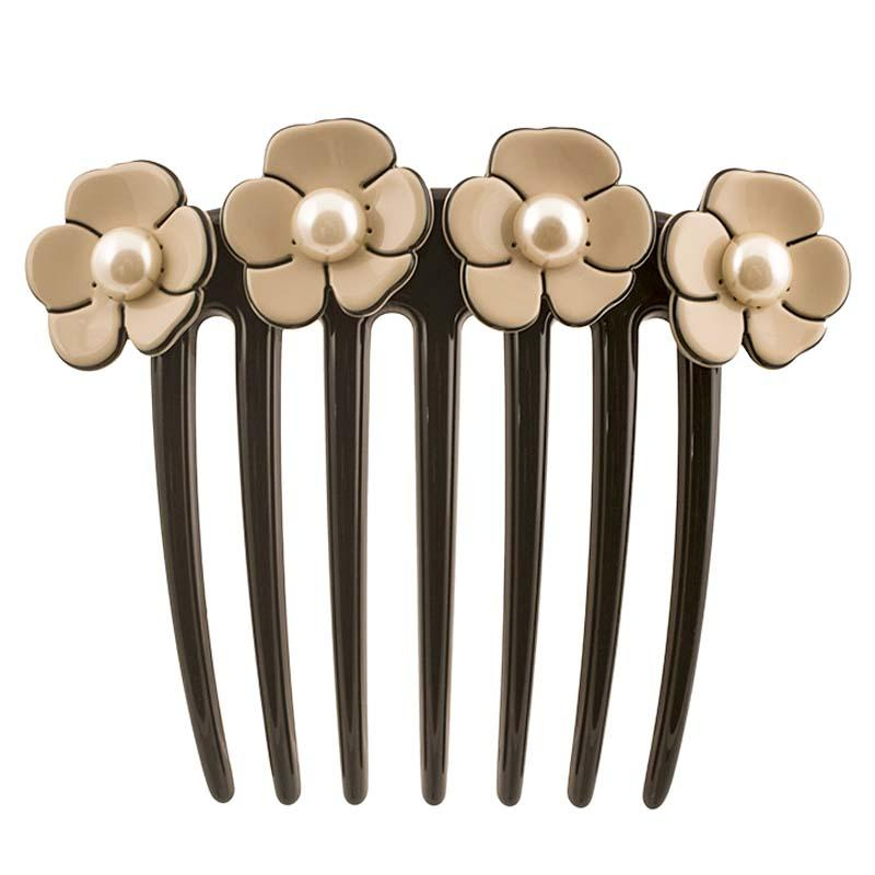 Camellia Pearl French Twist Comb