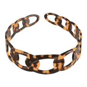 3 cm Hand Made Dark Tortoise Shell Alice Band Rings - Parismodeshop AU