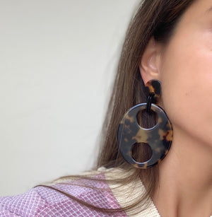 Haricot Drop Large Earrings Clip On
