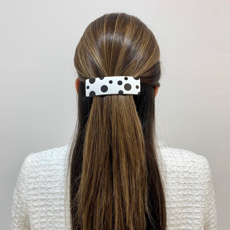 Rectangle Polka Dot Hair Clip M