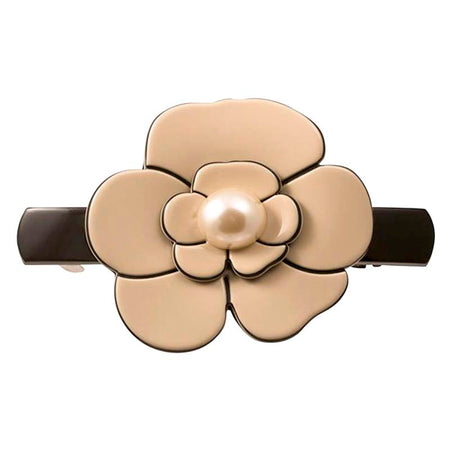 Hair Clip Rectangle Semis Perle