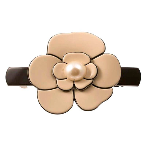 Hair Clip Camellia Pearl Medium - Parismodeshop