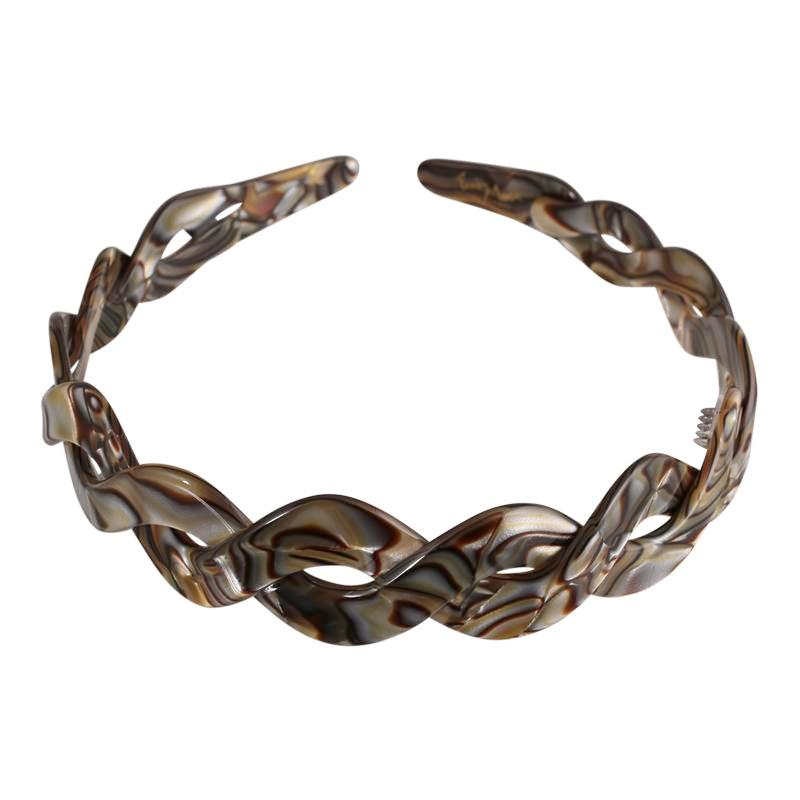 2 cm Onyx Alice Hair Band Twist Accessories Online - Parismodeshop AU