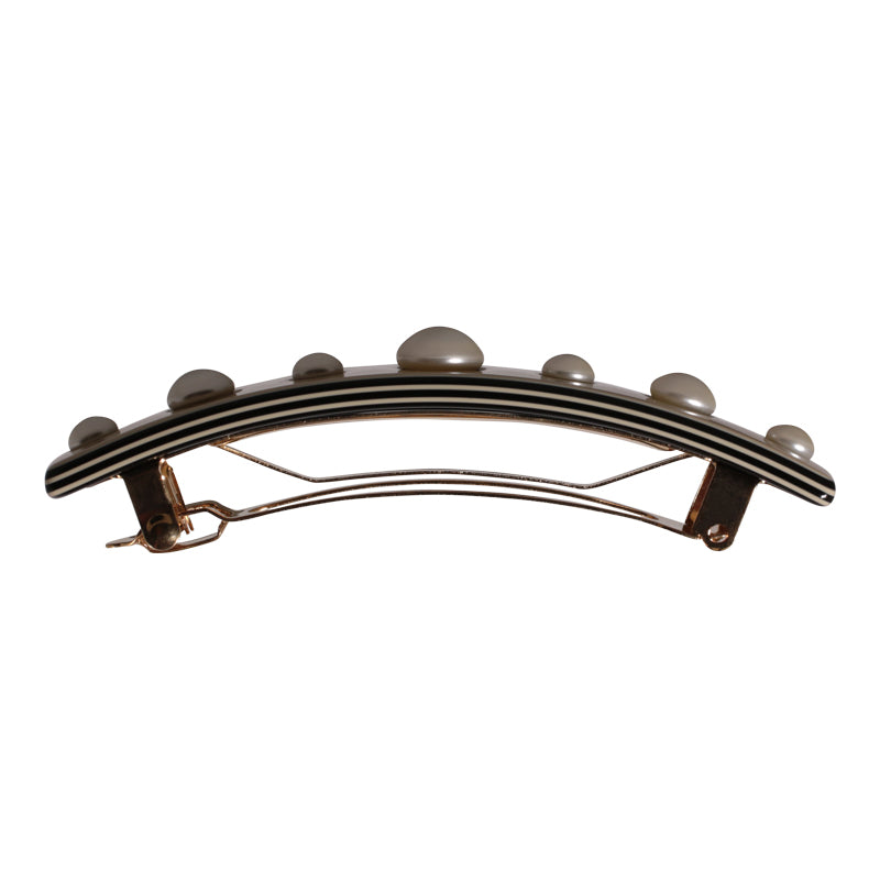 Hair Clip Rectangle Pearl Small