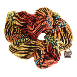 Scrunchie Brocade Orange