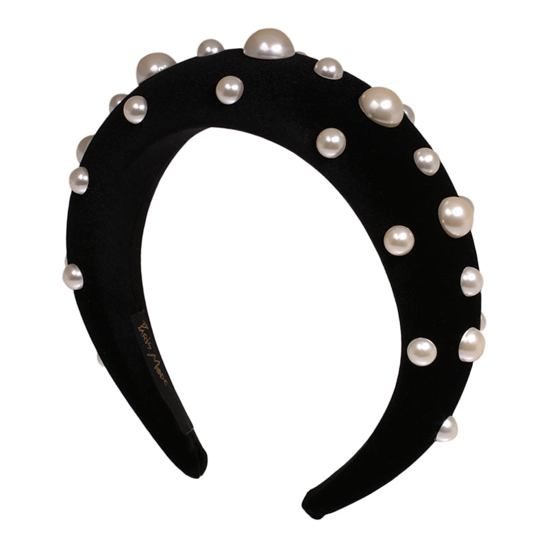 4 cm Alice Headband Pearl Glamour - Paris Mode Shop