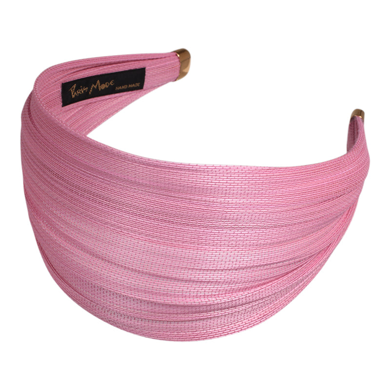 6.5 cm Baby Pink St. Tropez Wrap Alice Hair Band - Paris Mode NSW