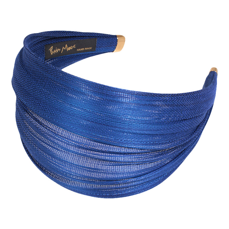 6.5 cm Petrol Blue St. Tropez Wrap Hair Band - Paris Mode Hand Made Hair Accessories