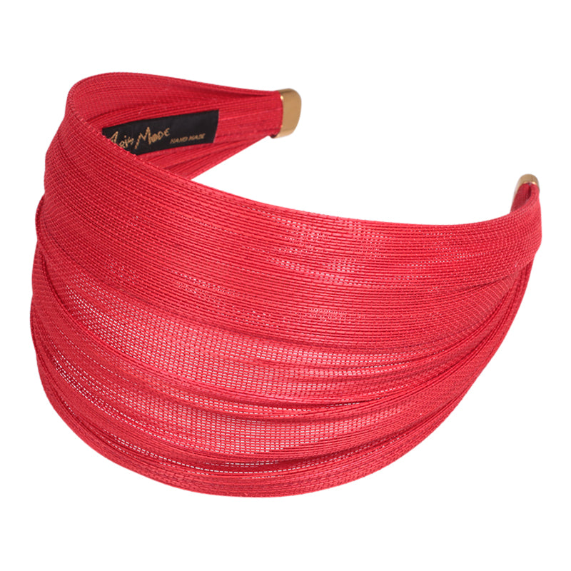 6.5cm Red St. Tropez Hand made Wrap Hair Band online - Parismodeshop
