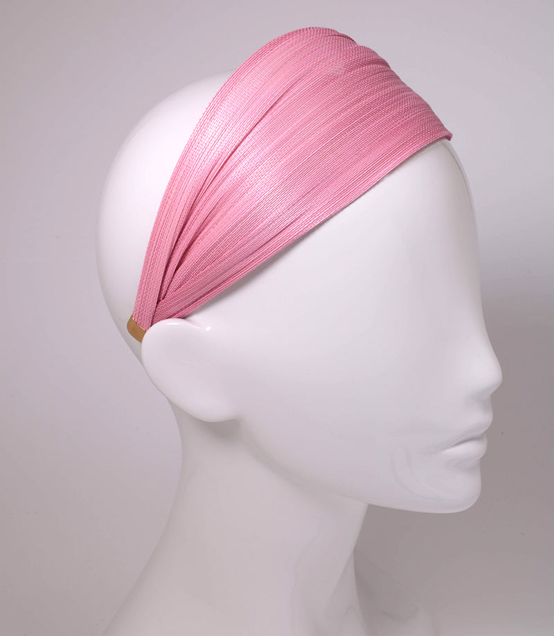 Hand made Pink St. Tropez Wrap Alice Hair Band online - Paris Mode Shop