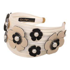 Custom Made Alice Band St. Tropez with Camellia Flowers