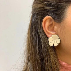 Camellia Clip on Earrings