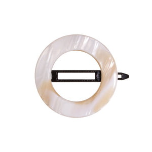 Hair Clip Circle White Alba