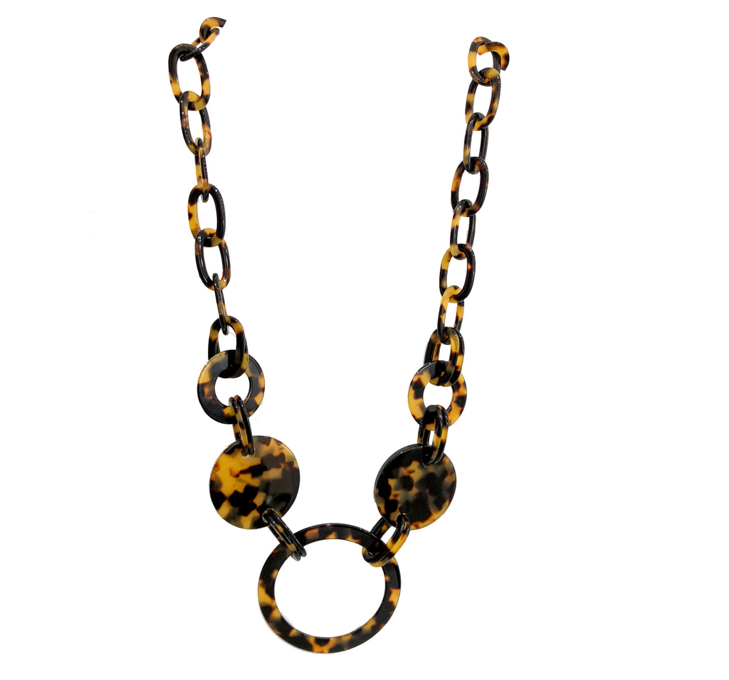 Disc and Circles Necklace