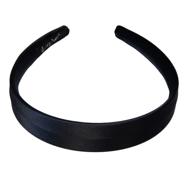 Alice Band Flat Satin 3Cm Black - Parismodeshop
