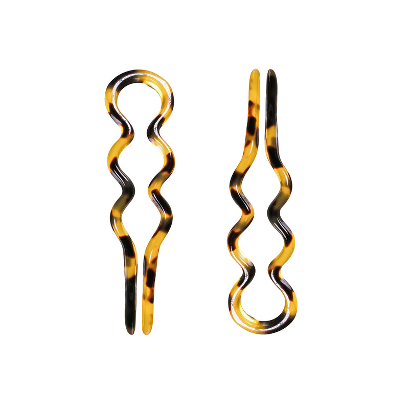 Hair Pin Wiggly Pair Large