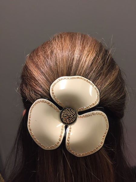 Hair Clip Camellia Full Topaz Large - Parismodeshop