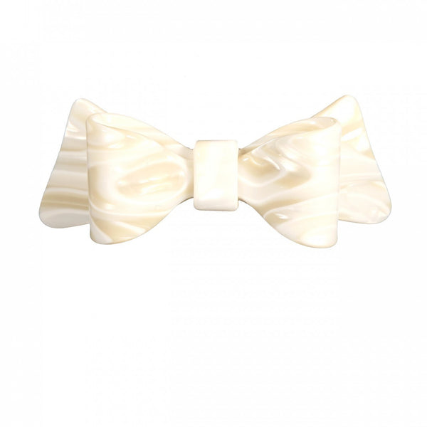 Hair Clip Bow Dbl L A8 - Hand Made In France