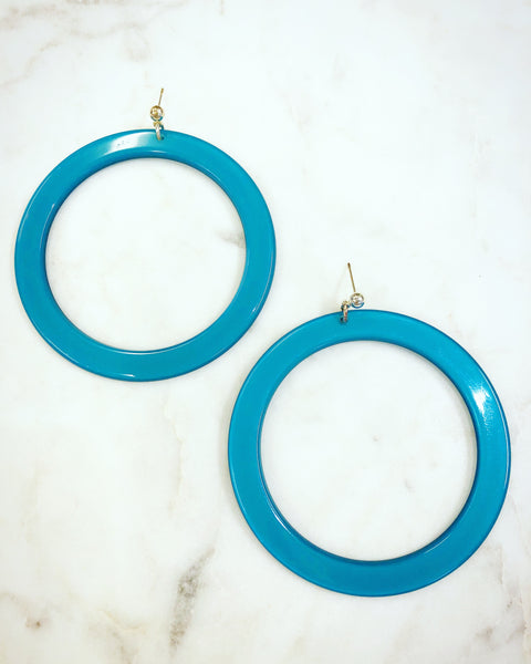 Earrings L Blue