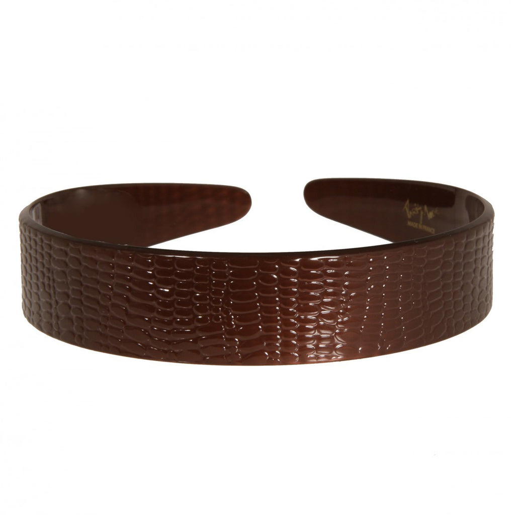 2.5 cm Serpent Brown Medium Alice Hair Band - Parismodeshop AU