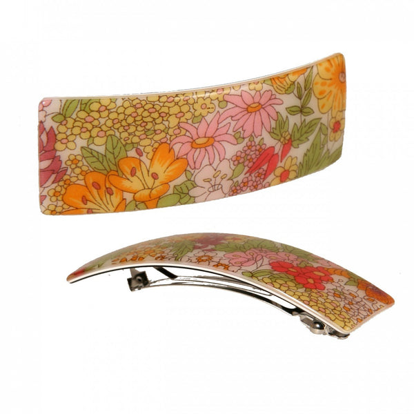 Hair Clip Rect. L Lap - Hand Made In France
