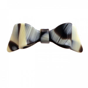 Hair Clip Bow Dbl L Cn - Hand Made In France