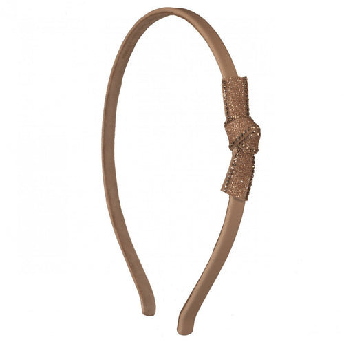 Suede Alice Band Leather Luxury Beige - Parismodeshop AU
