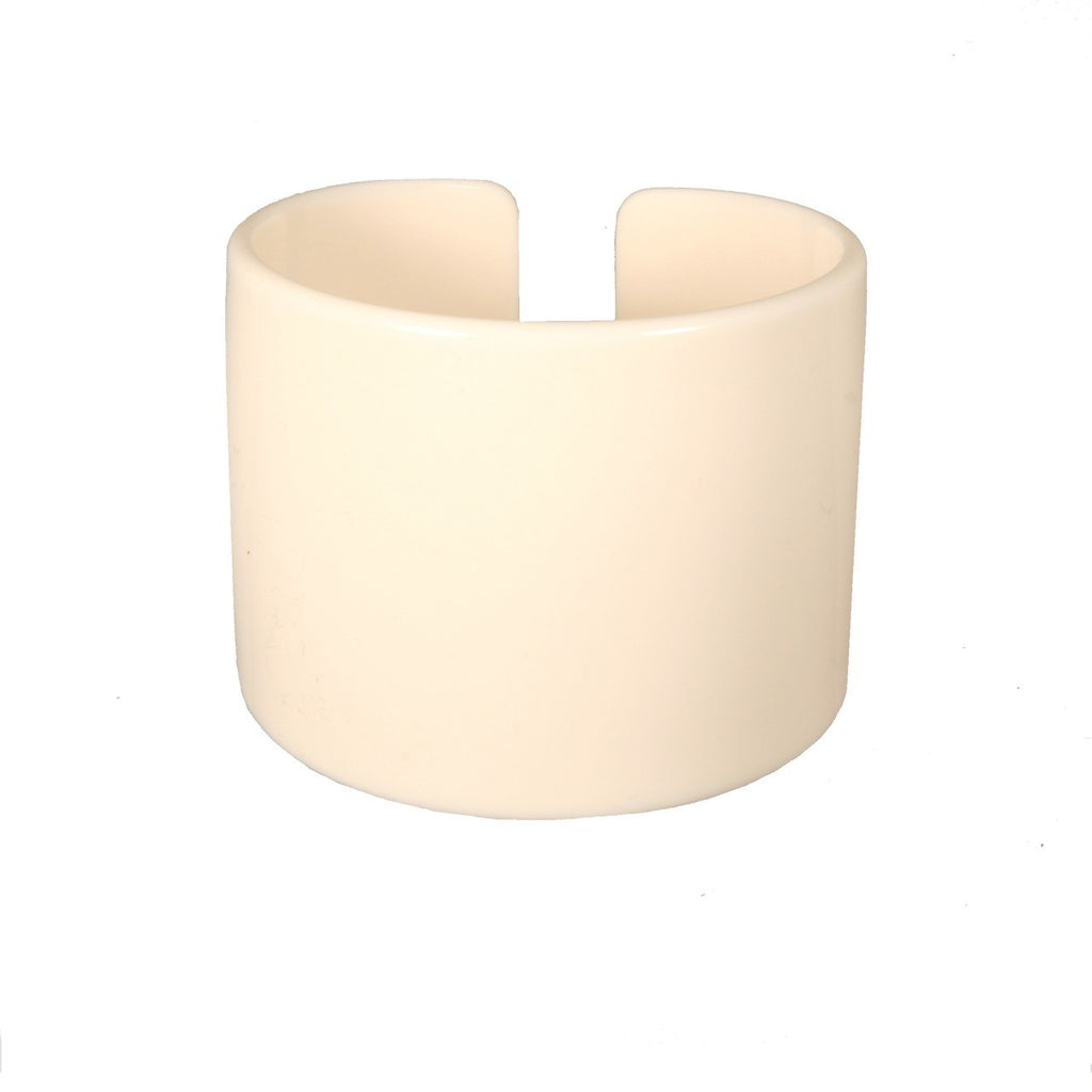 Cuff 6 Cm Ivory - Hand Made In France