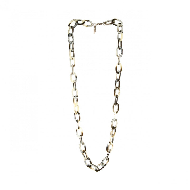 Necklace Chain Med. Corne Noire - Hand Made In France