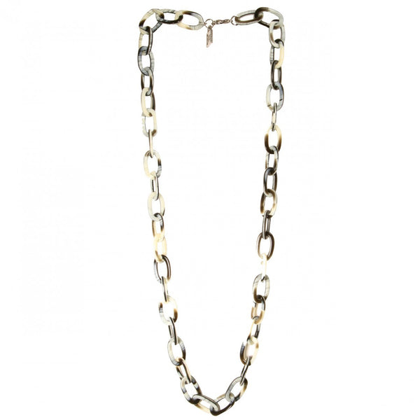 Necklace Chain Long Corne Noire - Hand Made In France