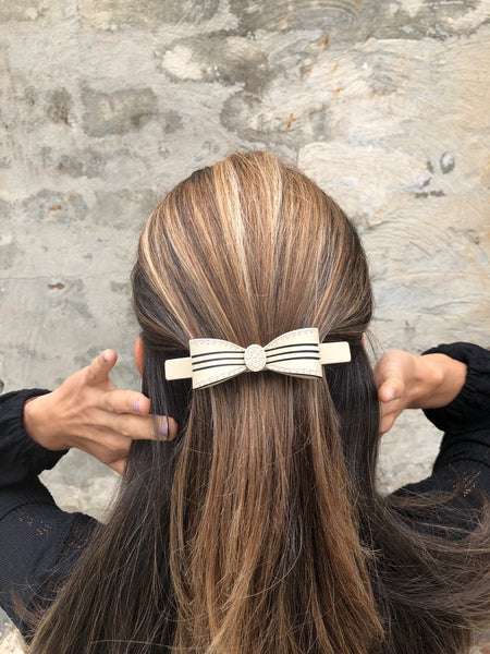 Hair Clip Daisy Bow Large - Parismodeshop