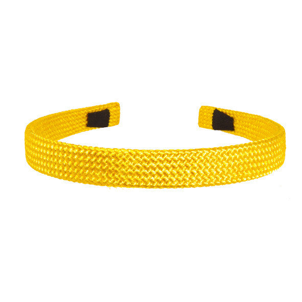 Alice Band Cord 1.5 Cm Yellow - Hand Made - Parismodeshop