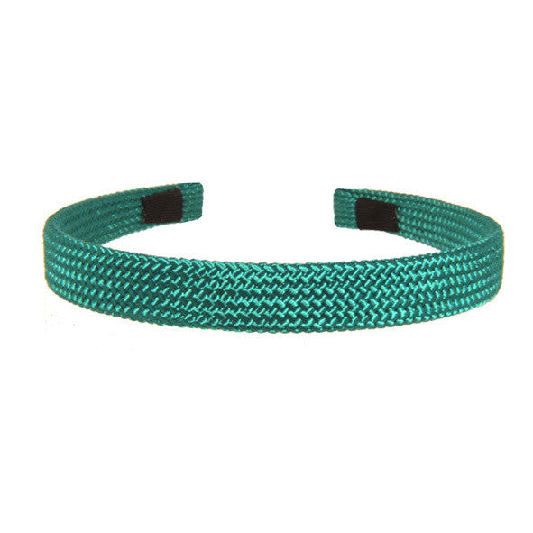 1.5 cm Green Cord Alice Band Hand Made Hair Accessories AU - ParisModeShop