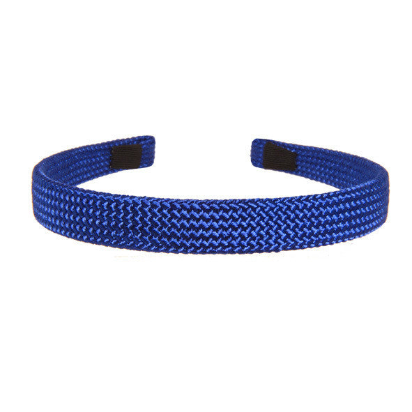 Alice Band Cord 1.5 Cm Blue - Hand Made