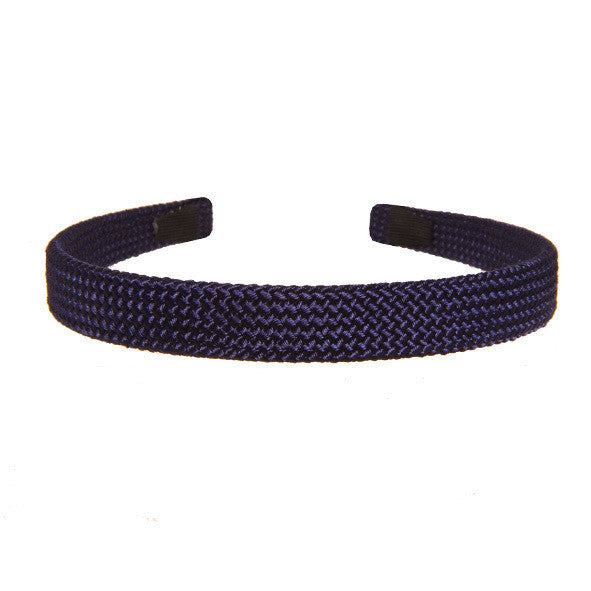 Alice Band Cord 1.5 Cm Navy - Hand Made