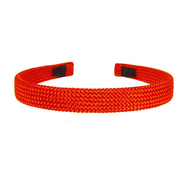 Alice Band Cord 1.5 Cm Red - Hand Made - Parismodeshop