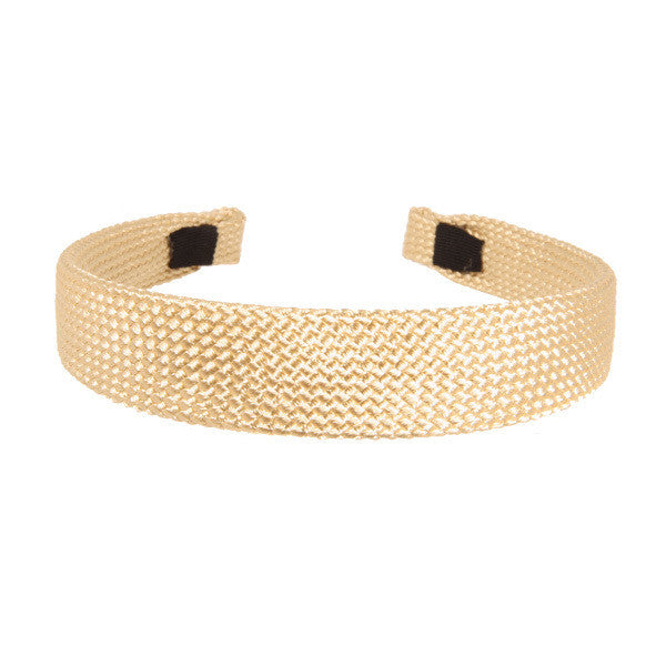 Alice Band Cord 2.5 Cm Beige - Hand Made - Parismodeshop