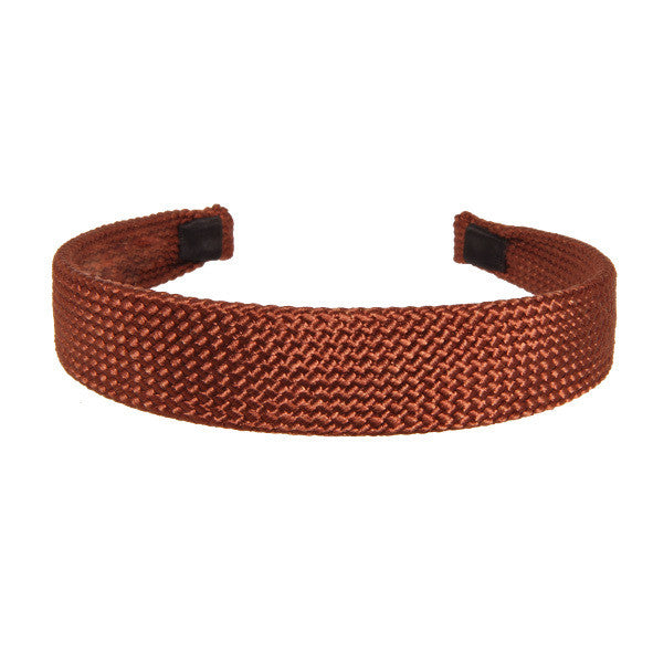 Alice Band Cord 2.5 Cm Burgundy - Hand Made - Parismodeshop