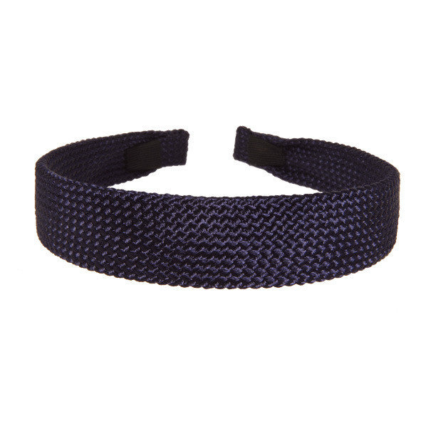Alice Band Cord 2.5 Cm Navy - Hand Made - Parismodeshop