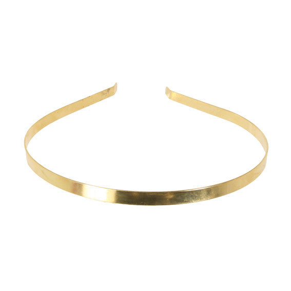 Alice Band 0.6 Metalic Gold - Hand Made In France