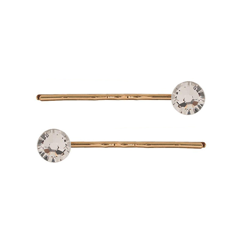 Hair Slide Pair Crystal