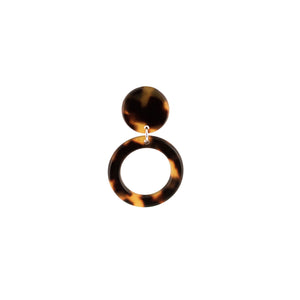 Disc and Circle Clip On Earrings - Parismodeshop
