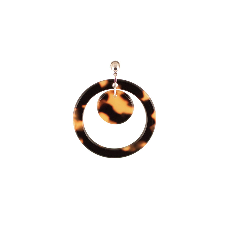 Disc in Circle Earrings