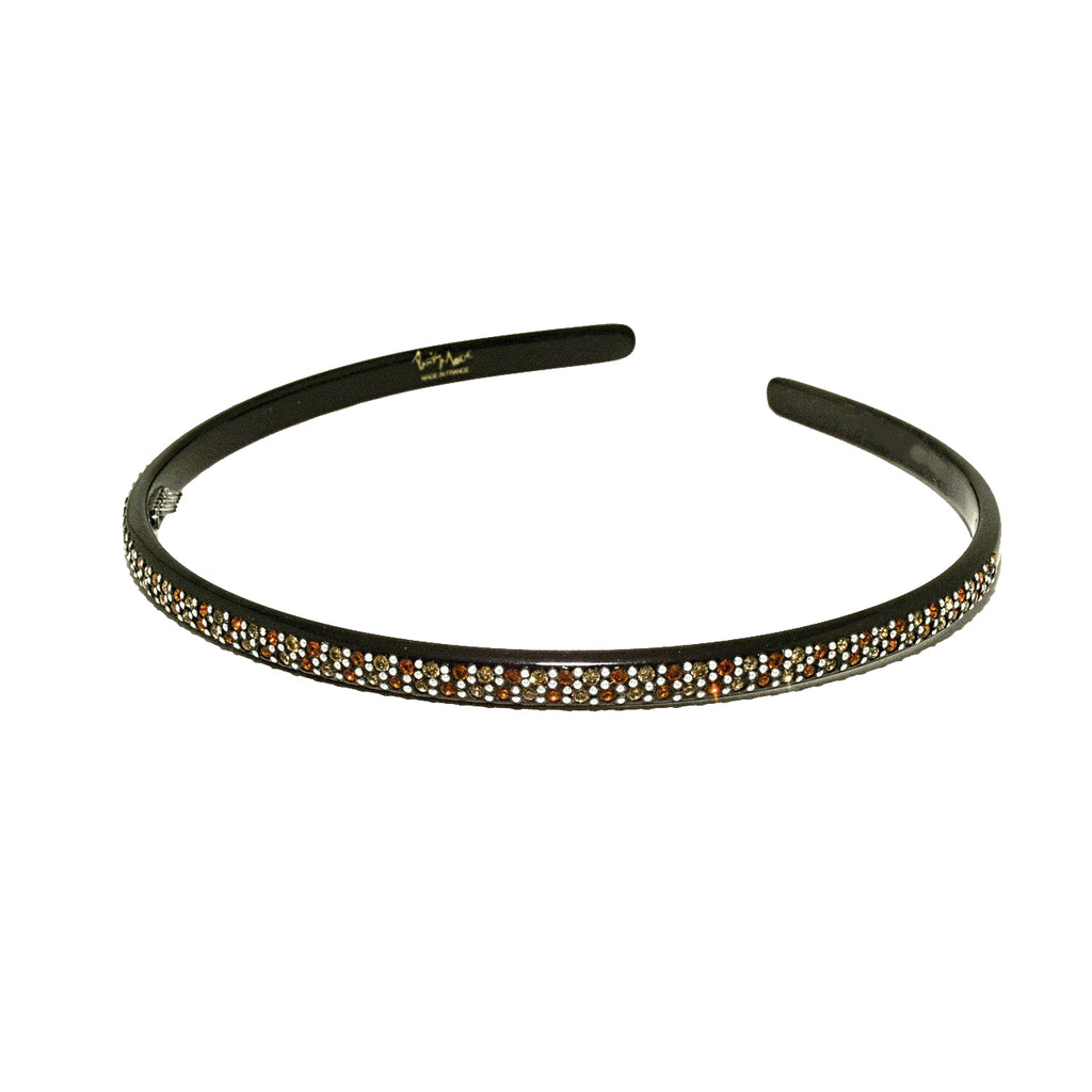 0.5cm Thin Alice Hair Band with Swarovski Crystals - Paris Mode Hair Accessories Online