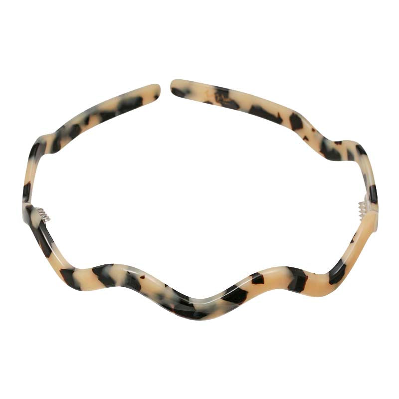 0.5 mc Light Tortoi Shell Zig Zag Alice Hair Band Australia - Parismodeshop