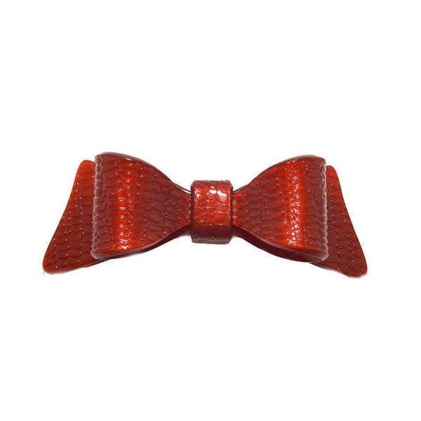 Hair Clip Bow Dbl L Srpbx - Hand Made In France